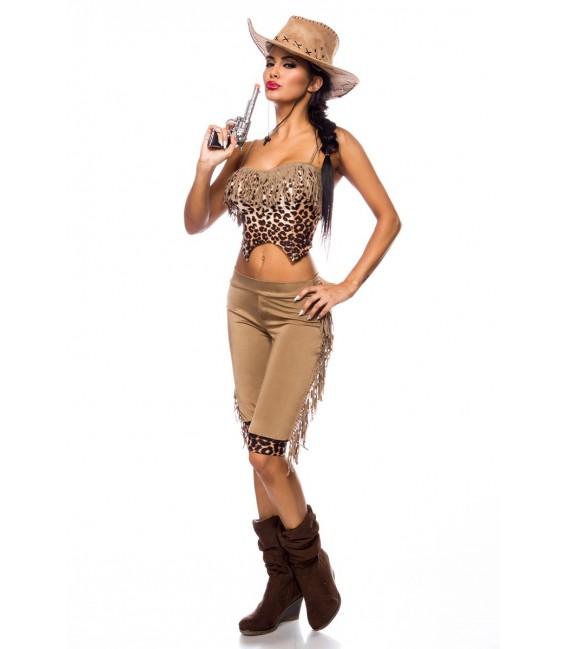 Westernkostüm Cowgirl Kostümset von Mask Paradise - 3 Großbild