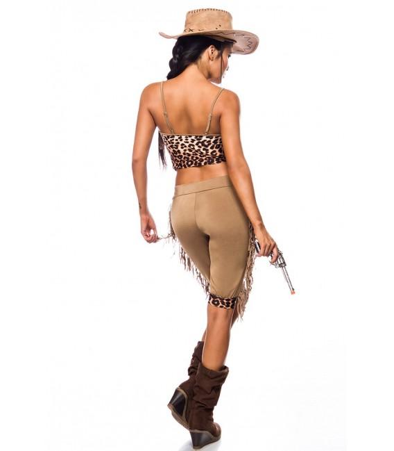 Westernkostüm Cowgirl Kostümset von Mask Paradise - 4 Großbild