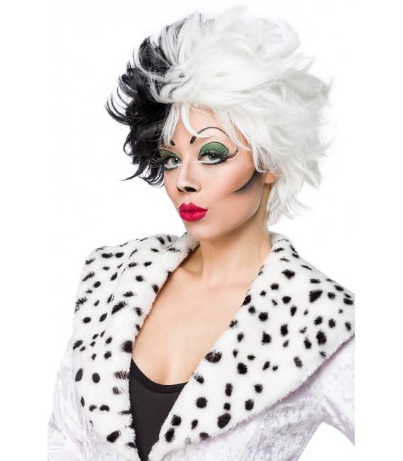 Dalmatian Perücke im zweifarbigen Kontrast-Look von Mask Paradise