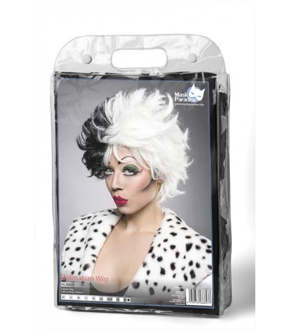Dalmatian Perücke im zweifarbigen von Mask Paradise Kontrast-Look