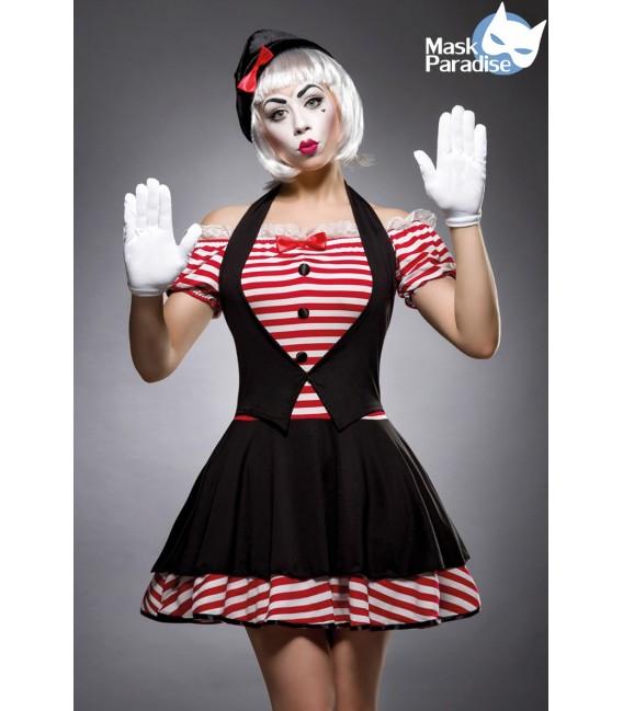 Sexy Mime Kostümset - Pantomime-Kostüm von Mask Paradise - 1 Großbild