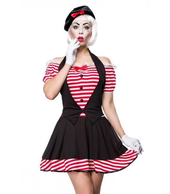 Sexy Mime Kostümset - Pantomime-Kostüm von Mask Paradise - 2 Großbild