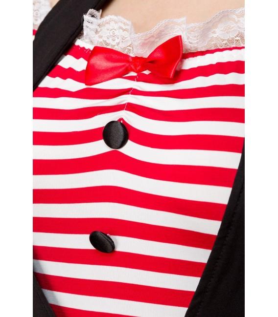 Sexy Mime Kostümset - Pantomime-Kostüm von Mask Paradise - 4 Großbild