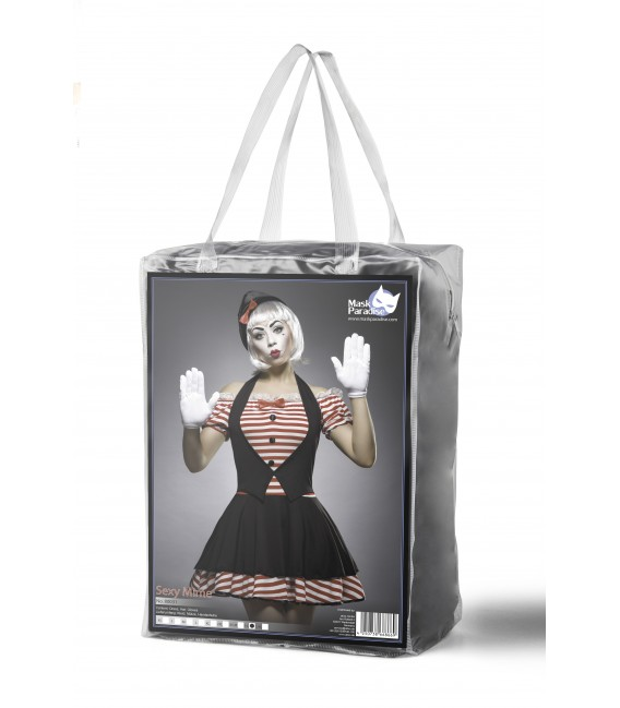 Sexy Mime Kostümset - Pantomime-Kostüm von Mask Paradise - 6 Großbild