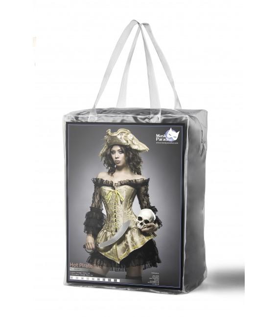 mehrteiliges Hot Pirate Kostüm Komplettset von Mask Paradise gold