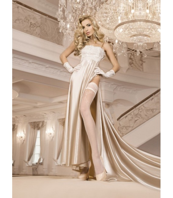 Stockings BA Art. 249 weiß halterlose Strümpfe 20den Großbild