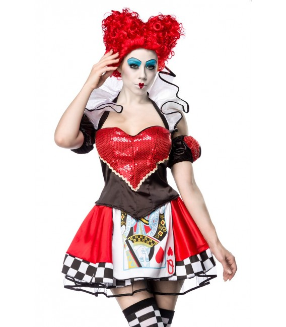 Red Queen Kostümset von Mask Paradise - 2 Großbild