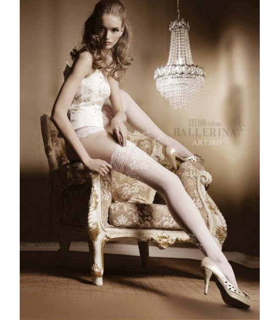 Stockings BA Art. 003 weiß halterlose Strümpfe 20den Großbild
