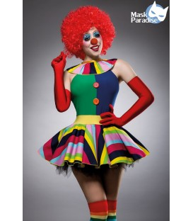 Clown Girl Kostüm von Komplettset Mask Paradise