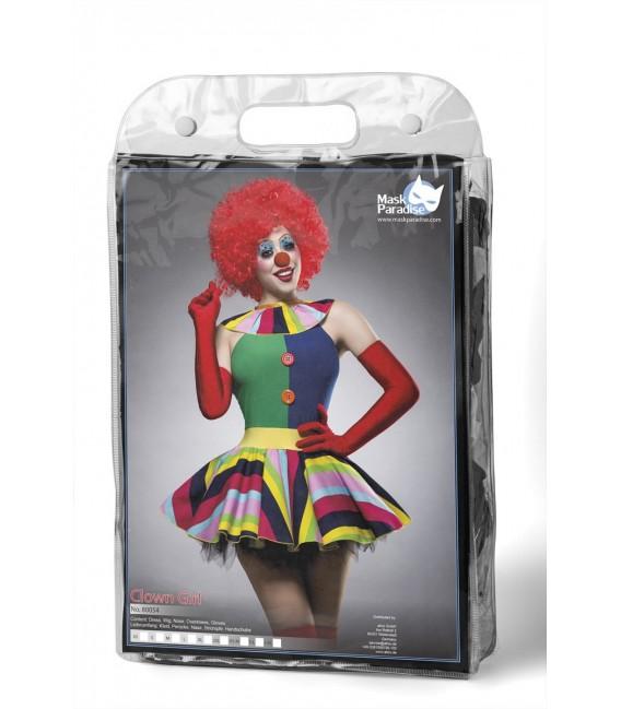 Clown Girl Kostüm von Komplettset Mask Paradise