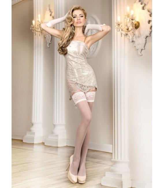 Stockings BA Art. 700 weiß halterlose Strümpfe 20den (Lulu) Großbild
