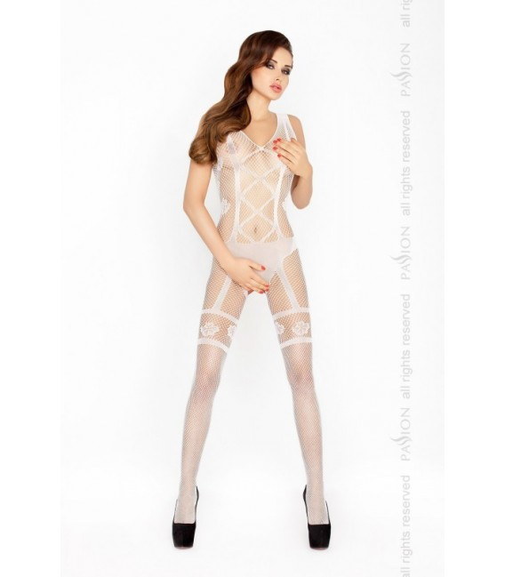 Catsuit PE Bodystocking BS018 weiß