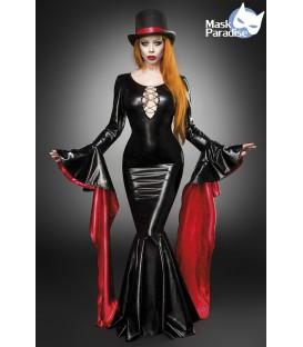 Hexenkostüm von Mask Paradise sexy Magic Mistress Kostüm Komplettset, ist aus einem figurbetontem Kleid und einem passenden Zyli