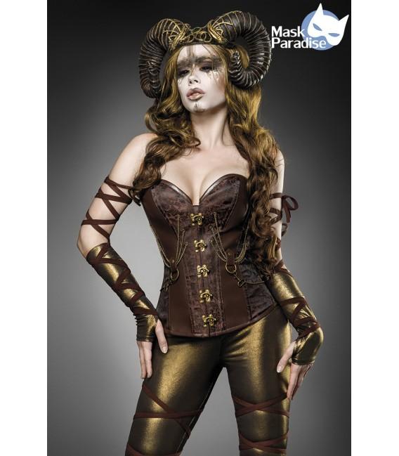 Fabelwesen Fantasykostüm - Woodland Faun Kostüm Komplettset von Mask Paradise, besteht aus einer Corsage, der Leggings und den A