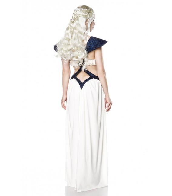 Drachenkönigin - Dragon Queen Komplettset von Mask Paradise, aus bauch- und rückenfreiem Kleid und passender Perücke