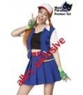 Gamerkostüm - Kostüm Komplettset Trainer von Mask Paradise, bestehend aus Kappe, Top, Rock, Gürtel, Jacke, Handstulpen