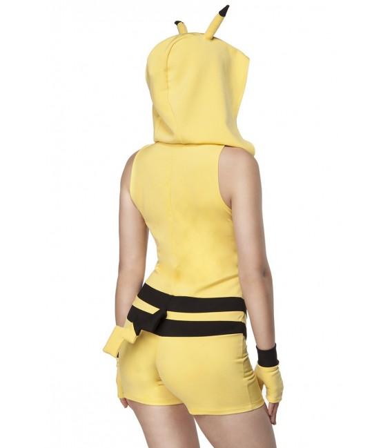 Gamerkostüm Tierkostüm - Kostüm Komplettset PikaPika Chuchu von Mask Paradise, besthend aus Jumpsuit und Handstulpen