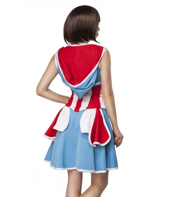 Kostüm Komplettset Major America von Mask Paradise besteht aus einem Kleid, einem Bolero und einer Unterbrustcorsage