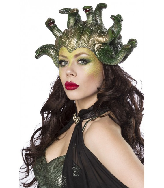 Fantasykostüm - Mystic Medusa Kostüm von Mask Paradise - Kostümset besteht aus Kleid, Cape, Handschuhe, Maske