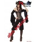 Piratenkostüm: Female Pirate von Mask Paradise. Kostümset Bluse, Hose, Corsage und Hut