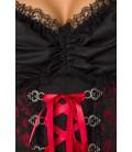 Premium Dirndl mit Bluse und Schürze rot/schwarz - AT70000