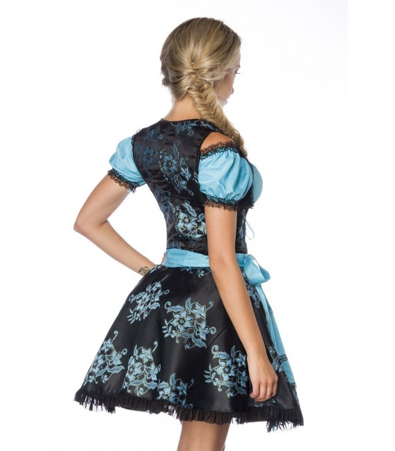 Premium Dirndl mit Bluse und Schürze blau/schwarz - AT70000