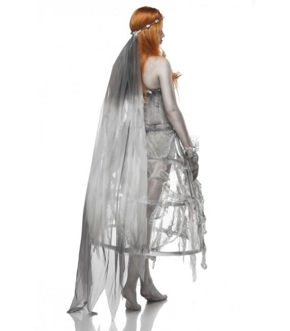 Zombiekostüm - Zombie Bride Kostüm von Mask Paradise - Kleid, Handschuhe, Stockings, Schleier, Höschen Kostüm - AT80076