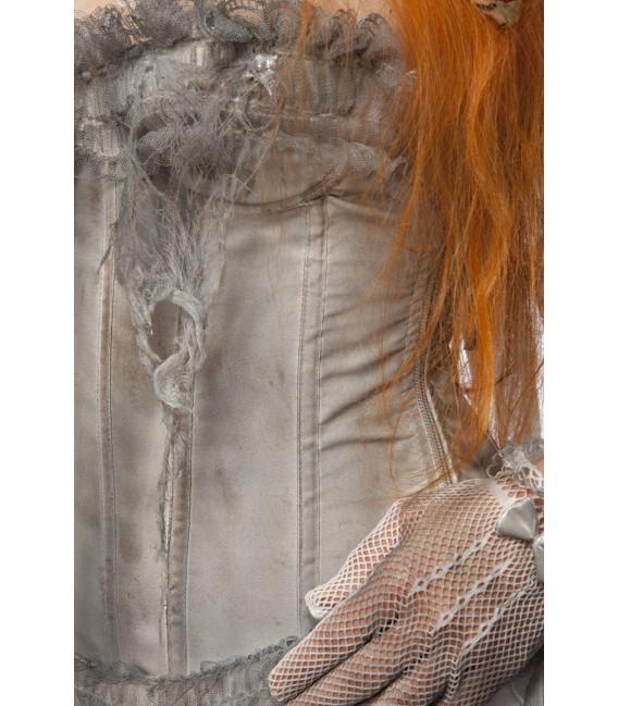 Zombiekostüm - Zombie Bride Kostüm von Mask Paradise - Kleid, Handschuhe, Stockings, Schleier, Höschen