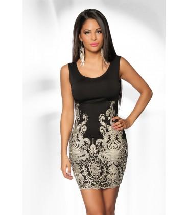 Etui-Kleid mit Spitze - AT12958