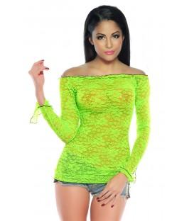Shirt aus Spitze neongrün - AT12966