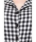 Retro-Jumpsuit schwarz/weiß - AT50072