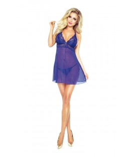 royal blaues Candymoon Chemise von Provocative Gold Lingerie