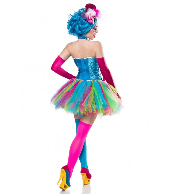Candy Girl Kostümset Mask Paradise - Corsage, Tutu, Hut, Halsband, Handschuhe, Stockings und Lolli