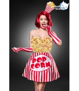 Popcorn Girl Kostüm von Mask Paradise - Kleid, Haarreif und Handschuhe