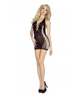 schwarzes Netz-Kleid PR4958 S-L von Provocative