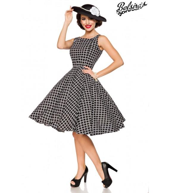 Vintage-Kleid schwarz/weiß - AT50092