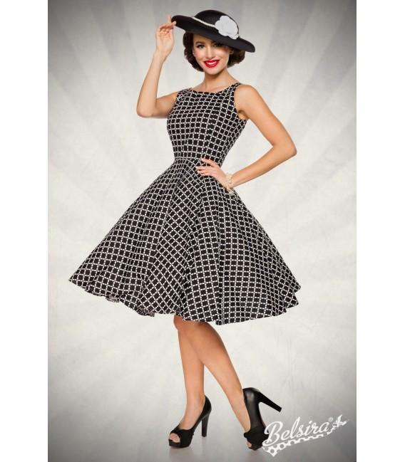 Großbild Vintage-Kleid schwarz/weiß - AT50092
