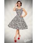 Vintage-Kleid schwarz/weiß/dots - AT50092