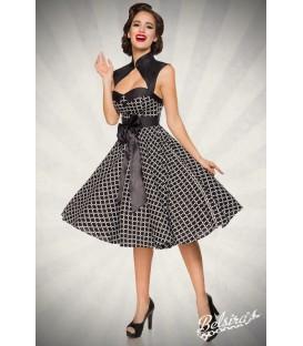 Vintage-Kleid schwarz/weiß - AT50096