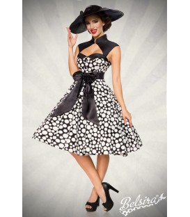 Vintage-Kleid schwarz/weiß/dots - AT50096