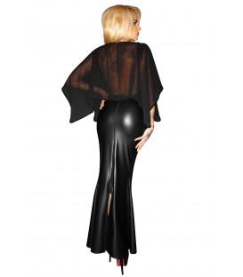 schwarzes langes Kleid F108 von Noir Handmade ImMoral Kollektion