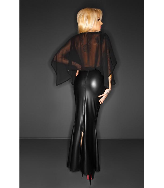 schwarzes langes Kleid F108 von Noir Handmade ImMoral ...