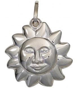 Kinder Anhänger Sonne 925 Sterling Silber rhodiniert Kinderanhänger Bild1