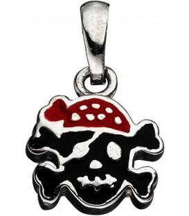 Kinder Anhänger Totenkopf Pirat 925 Sterling Silber Kinderanhänger Bild1
