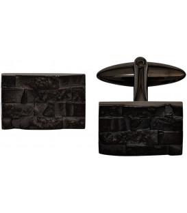 Manschettenknöpfe Edelstahl schwarz plattiert Bild1