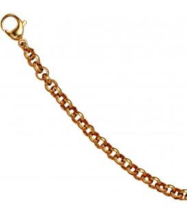 Erbsarmband Edelstahl gold vergoldet 19 cm Armband Karabiner Bild1