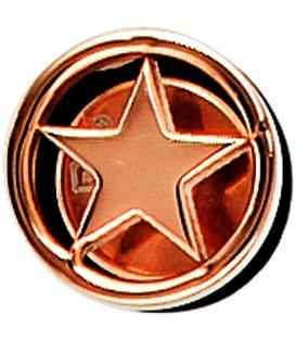 Einzel-Ohrstecker Stern Edelstahl mit rotgold farbener PVD-Beschichtung Bild1