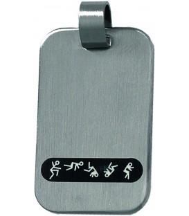 Anhänger Edelstahl mattiert mit schwarz-weißer Emaille Bild1