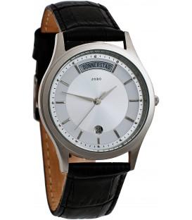 JOBO Herren Armbanduhr Quarz Analog Edelstahl Leder Datum Herrenuhr Bild1
