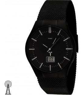 JOBO Herren Armbanduhr schwarz Funk Funkuhr Edelstahl Herrenuhr mit Datum Bild1